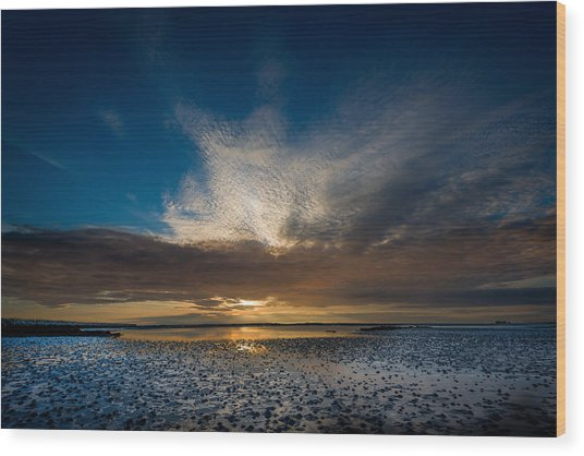 Benbecula Sunset Wood Print