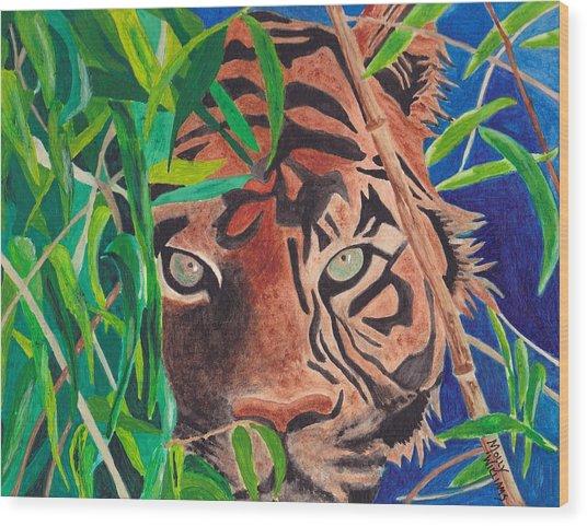 Bengal Eyes Wood Print