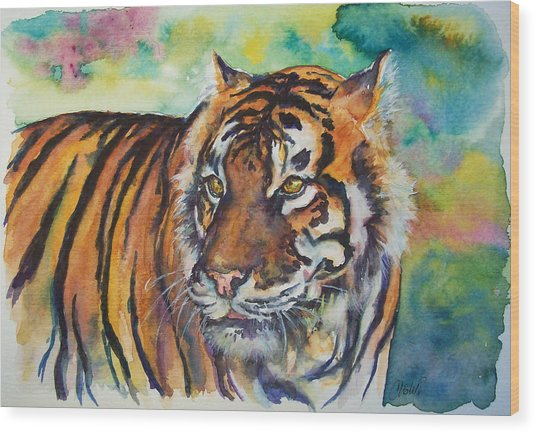 Bengal Tiger Wood Print