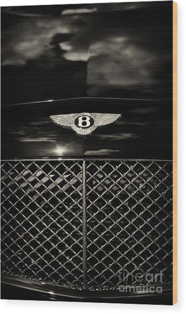 Bentley Continental Gt Sepia Wood Print