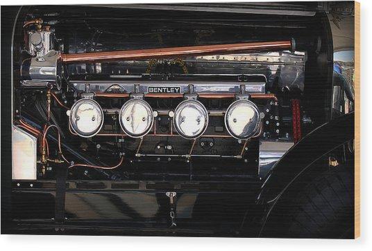 Bentley Engine Wood Print by Radoslav Nedelchev