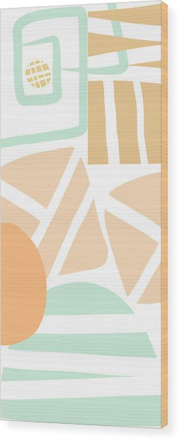 Bento 3- Abstract Shapes Art Wood Print