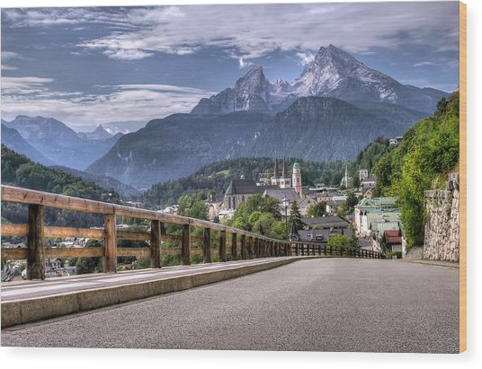 Berchtesgaden Road And Mountain Wood Print by Ioan Panaite
