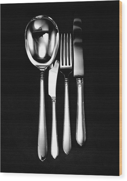Berkeley Square Silverware Wood Print