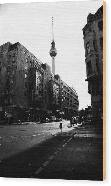 Berlin Bw Wood Print by Falko Follert