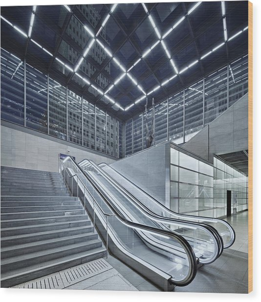 Berlin Potsdamer Platz With Escalator Wood Print by Ricowde