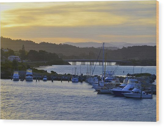 Bermagui River Sunset Wood Print