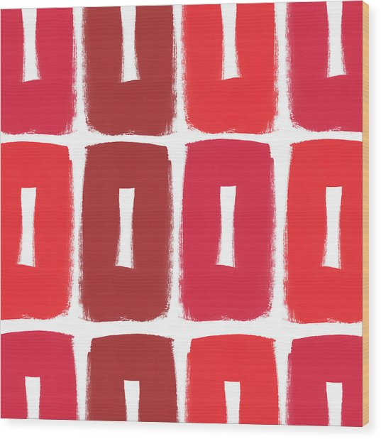 Berry Boxes- Contemporary Abstract Art Wood Print