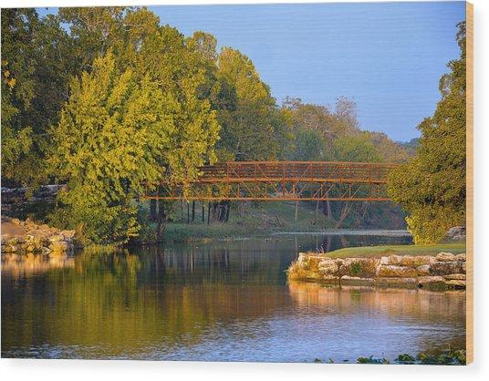 Berry Creek Bridge Wood Print