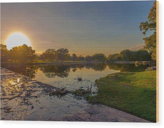 Berry Creek Sun Set Wood Print