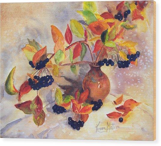 Berry Harvest Still Life Wood Print