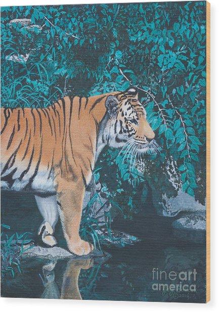 Beside The Still Water Wood Print