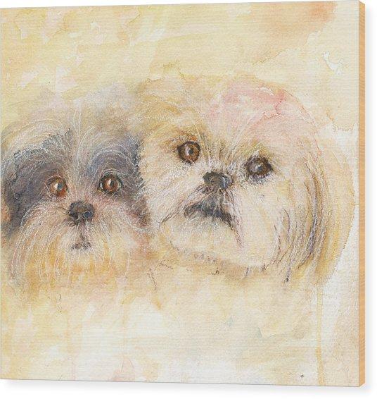 Best Buddies Wood Print by Peggy Bosse
