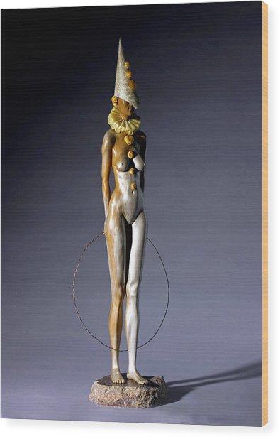 Best Entertainer Wood Print by Jacek Sumeradzki