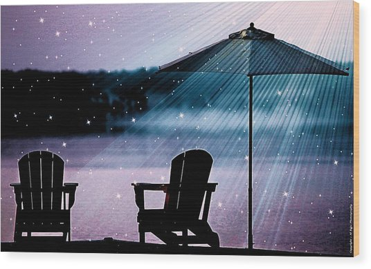 Best Seat In Muskoka Wood Print
