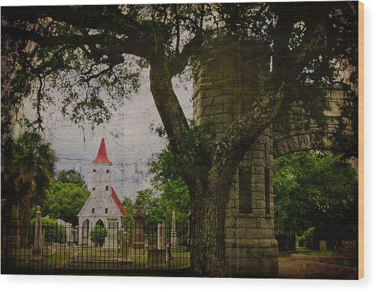 Bethany Cemetery Entryway Wood Print