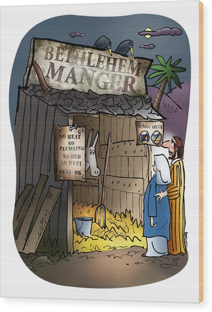 Bethlehem Manger Wood Print