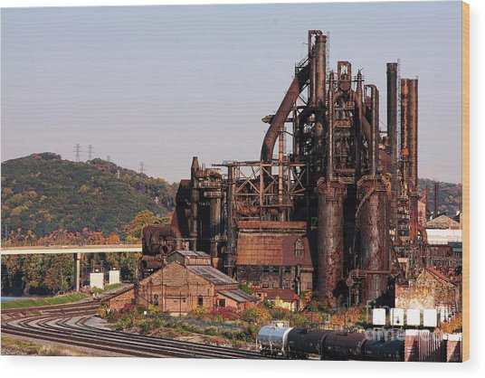 Bethlehem Steel # 8 Wood Print