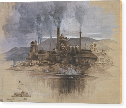 Bethlehem Steel Corporation Circa 1881 Wood Print