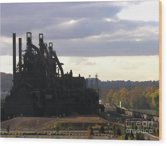 Bethlehem Steel On The Lehigh River Wood Print