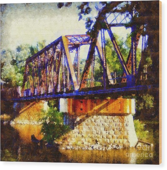 Train Trestle Bridge Wood Print