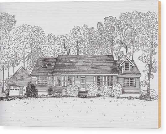 Betsy's House Wood Print