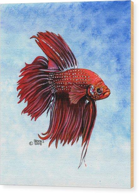 Betta-big Red Wood Print