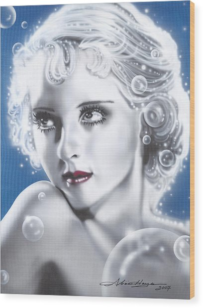 Bette Davis Wood Print by Alicia Hayes