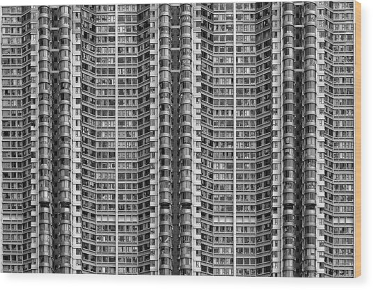 Better Know Where Your Flat Is Wood Print by Stefan Schilbe