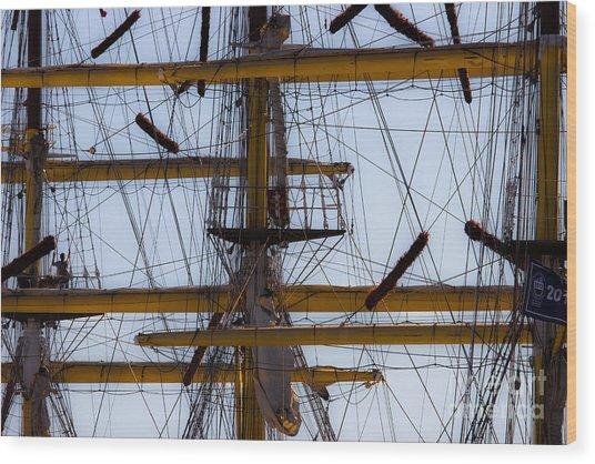 Between Masts And Ropes Wood Print