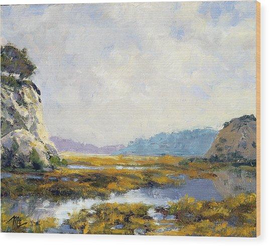 Between The Cliffs Wood Print