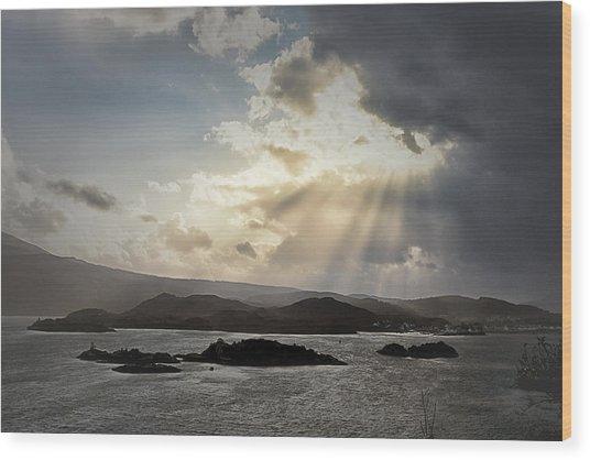 Beyond The Clouds Wood Print