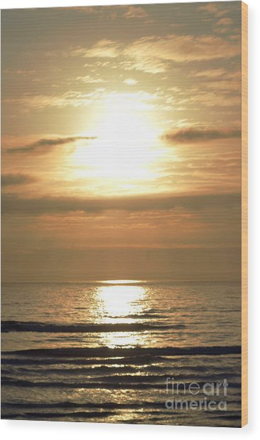 Beyond The Horizon Wood Print by Sheldon Blackwell