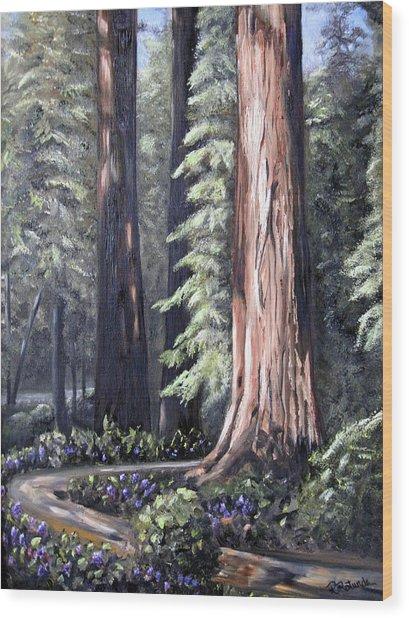 Beyond The Path Wood Print