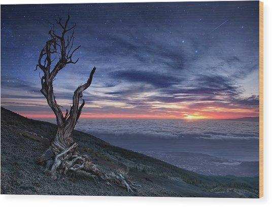 Beyond The Sky Wood Print