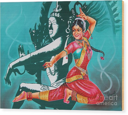 Bharatanatyam Wood Print