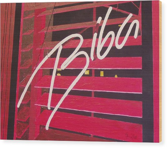 Biba Wood Print by Paul Guyer
