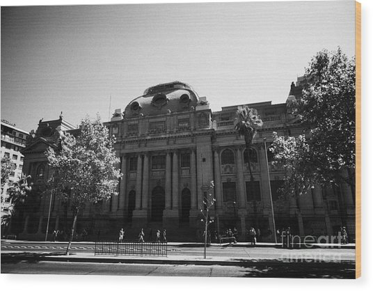 biblioteca nacional de chile national library Santiago Chile Wood Print by Joe Fox