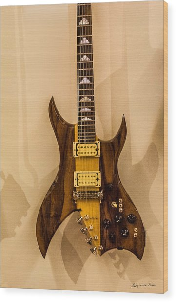 Bich Electric Guitar Colored Wood Print