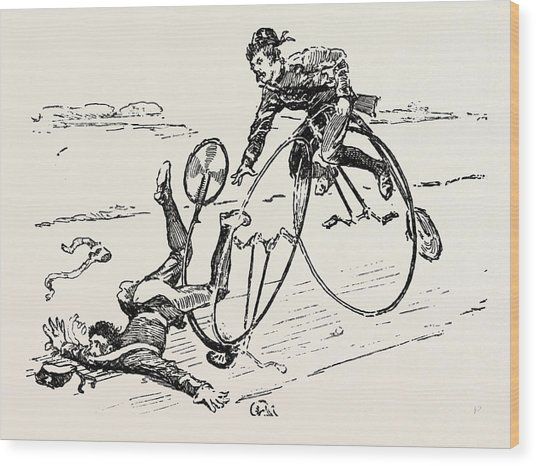 Bicycle Accident Drawing by English School
