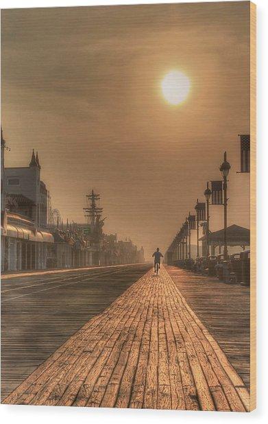 Bicycle Boardwalk Wood Print