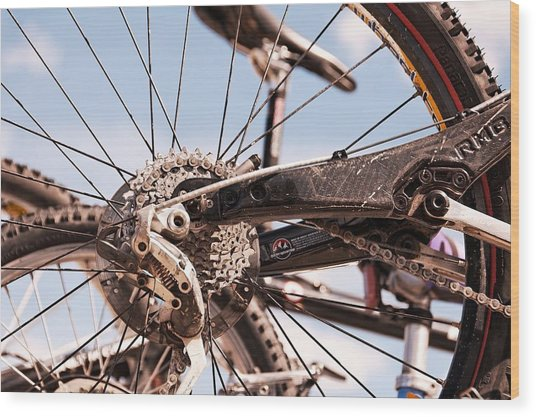 Bicycle Gears Wood Print