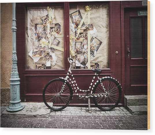 Wood Print featuring the photograph Bicycle by Ryan Wyckoff