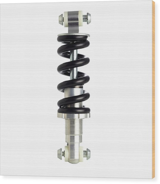 Bicycle Spring Suspension Wood Print by Science Photo Library