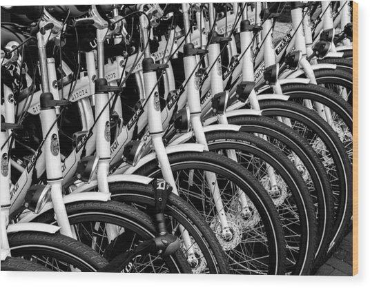 Bicycles Bicycles Bicycles Wood Print