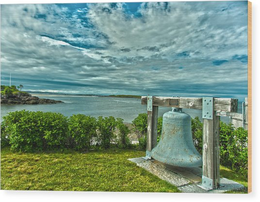 Biddeford Pool Bell Wood Print