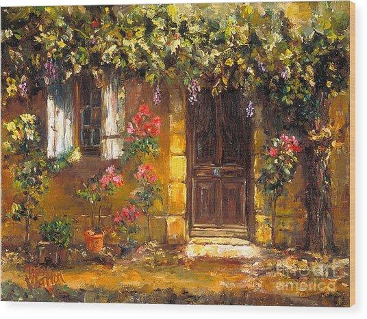 Bienvenue A' Provence Wood Print