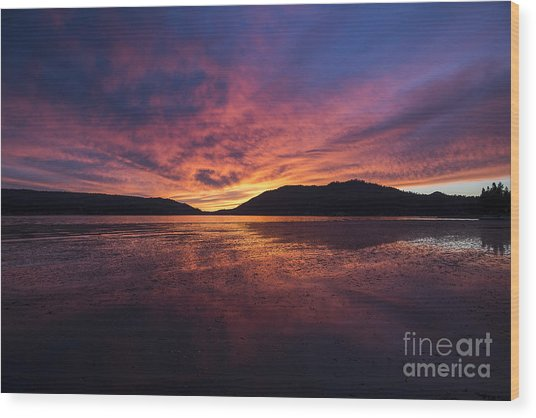 Big Bear Lake Wood Print