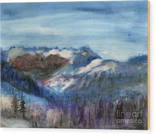 Big Bear Wood Print by Sandra Stone
