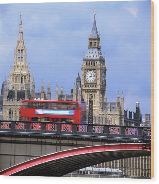 Big Ben And The Houses Of Parliament Wood Print by Mark Thomas/science Photo Library